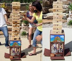 Outdoor Backyard Games Backyard Block Party Massive Outdoor Wooden Block Game The