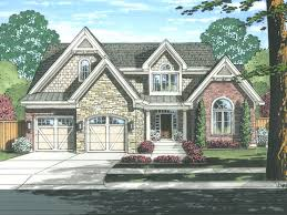 European Home Design Inc Two Story House Plans Blended European And Traditional Style 2