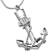urn necklace for ashes chapel hill memorial park helome stainless steel navy anchor
