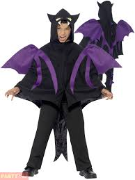 kids black hooded dragon cape boys halloween costume bat fancy