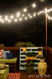 Backyard String Lighting by Hang String Lights On Your Deck An Easy Way