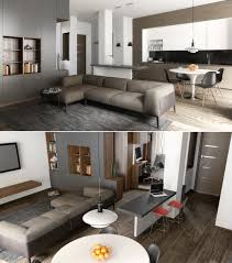 open concept small apartment decorating design living room