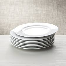 white porcelain dinner plates set of 8 crate and barrel