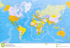 World Map Japan by Detailed World Map Stock Photography Image 29681182