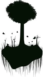 free vector graphic silhouette tree island float free image