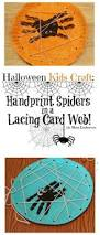 Halloween Crafts For Infants by Halloween Kids Craft Handprint Spiders In A Diy Lacing Card Web