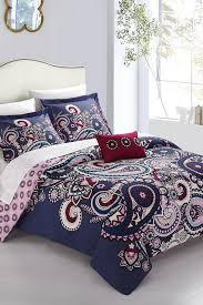 Bed In A Bag Duvet Cover Sets by Chiyo Reversible Paisley 8 Piece Bed In A Bag Duvet Cover Set