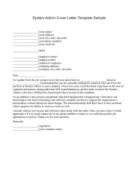 Resume Of Network Administrator Network System Administrator Cover Letter Bid Proposal Forms