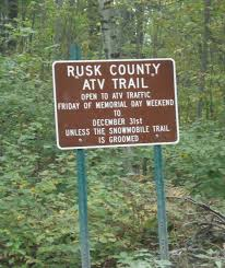 Wisconsin Public Hunting Land Map by Atv Rusk County Wisconsin
