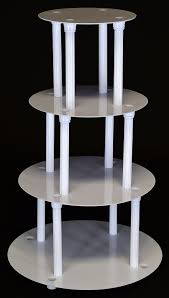 cake pillars 4 tier cake separator plate and pillar set style