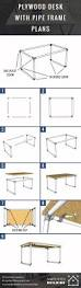 Diy Desk Pipe by Diy Plywood Desk With Pipe Frame Plans To Build Your Own