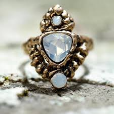 natural stone rings images Bohemian style and natural stone rings free spirit shop jpg