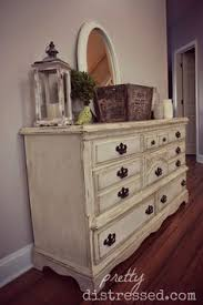 white chalky paint dresser makeover chalky paint dresser