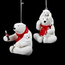 buy club pack of 12 coca cola polar bears with cub decorative
