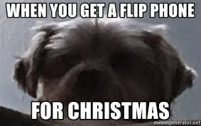 Flip Phone Meme - when you get a flip phone for christmas sad doggo meme meme