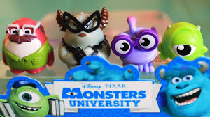 monsters university toys miniatures 3 monsters disney pixar