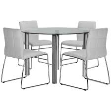 Napoli Dining Table Napoli White Table 4 Upholstered Chairs Table