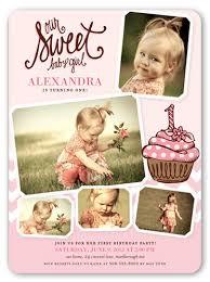 sweet little cupcake 6x8 invitation card birthday invitations