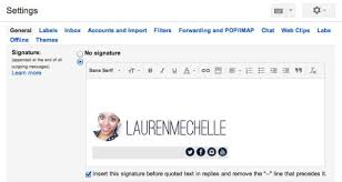 diy email signature with images lauren mechelle