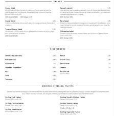 Backyard Bar And Grill Menu by Menu For Pancho U0027s Backyard 433 E Sheridan St