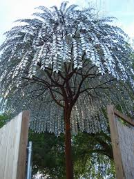 this 20 ft metal tree by sculptor foster talge takes my breath