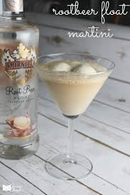 clear chocolate martini root beer float martini