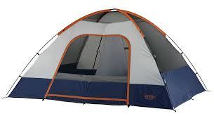 amazon com wenzel salmon river 2 room family dome tent orange