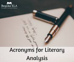 Soapstone Literary Analysis Acronyms For Literary Analysis A Comprehensive List Of Strategies