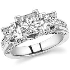 3 engagement rings 3 square engagement rings wedding promise
