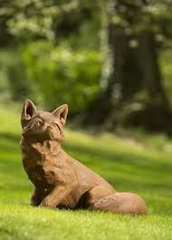 fox garden ornament animal garden ornaments garden