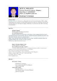 Ultrasound Technician Resume Sample by Radiologic Technologist Resume Contegri Com