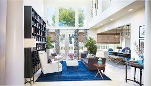 Birmingham Blue Leather Sofa Living Room Contemporary With Square - Contemporary living room furniture las vegas