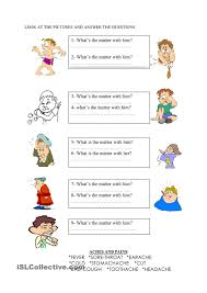 Esl Vocabulary Worksheets Whats The Matter English Language Esl Efl Learn English