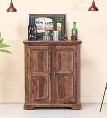 Compact Bar Cabinet Black Forest Compact Bar Cabinet With Side Shelves By Mudramark