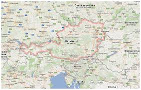 Map Austria Detailed Map Of Austria And Surrounding Countries With Borders