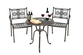 Large Bistro Table And Chairs Chairs White Metal Chairs Outdoor White Metal Patio Furniture