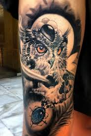 tattoo pictures of owls owl and skull tattoo designs