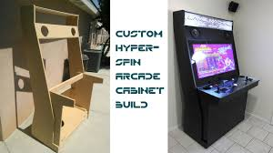 custom plans custom hyperspin arcade cabinet updated with links to plans