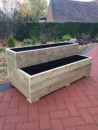 best 25 wooden garden planters ideas on diy wood