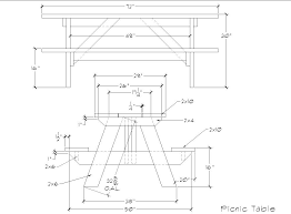 Picnic Table Plans Free Pdf by Picinic Table