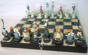 Buy Chess Set Nightmare Before Christmas Vs Corpse Bride Chess By