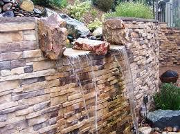Waterfall Backyard Brick Wall Waterfall Backyard U2014 Jen U0026 Joes Design Designing The