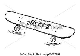 drawn skateboard clip art pencil and in color drawn skateboard