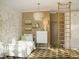 girls room with jungle gym aparatus interior design ideas