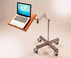 impressive standing movable laptop desk design with cantilevered