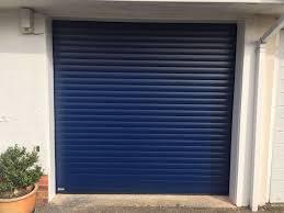 Navy Blue Door Navy Blue Seceuroglide Roller Garage Door Shutter Spec Security