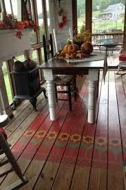 Painting An Outdoor Rug Painted Porch Rug For The Porch Pinterest Porch Decking And
