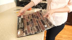 Interior Shop Diy Peel And Stick Backsplashes At Lowes Backsplash - Glass peel and stick backsplash