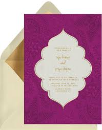 henna invitation henna invitations in purple greenvelope