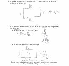 knockout perimeter worksheets math and area word problems practice